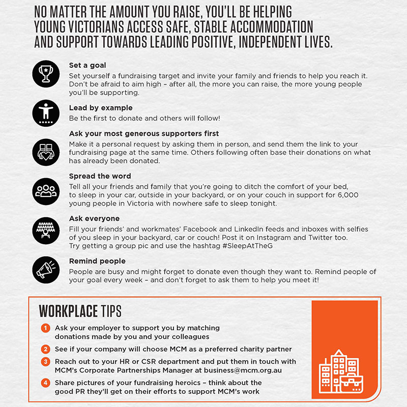 Fundraising tips poster